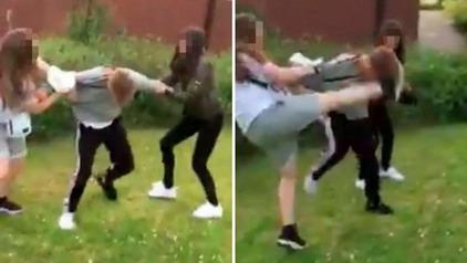 Bilder von Jungen, die verprügelt werden