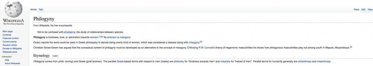 philogyny m228nnerfeindlichkeit vs misogyny